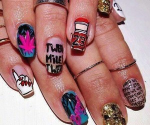 nails, miley, and miley cyrus image