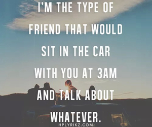 friends, car, and quotes image