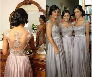 dress and bridesmaids image
