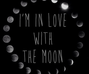 moon, love, and in love image