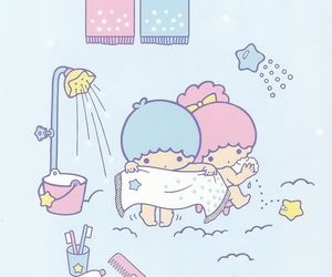 little twin stars, sanrio, and wallpaper image