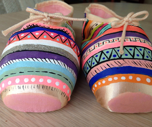 ballet shoes, dance, and paint image
