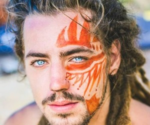 boy, eyes, and dreads image
