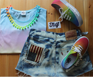 outfit, vans, and summer image