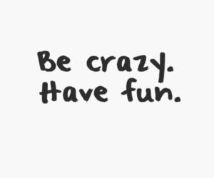 crazy, fun, and quote image