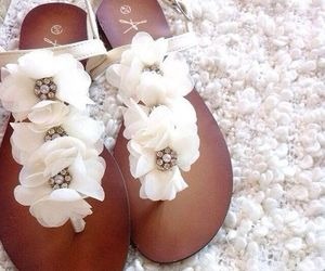 shoes, flowers, and beauty image