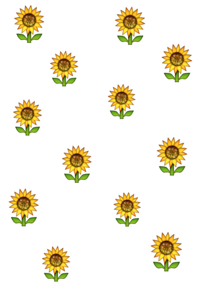 Sunflower emoji discovered by XoXo on We Heart It