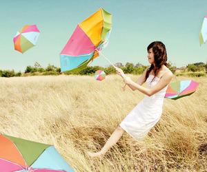 girl, umbrella, and photography image
