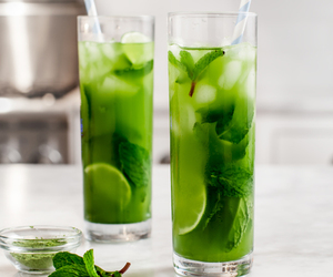 drink, mint, and green image