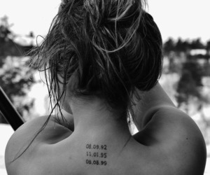 black and white, code, and tattoo image