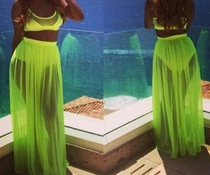 dress, fashion, and fluo image