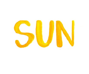 sun, yellow, and summer image