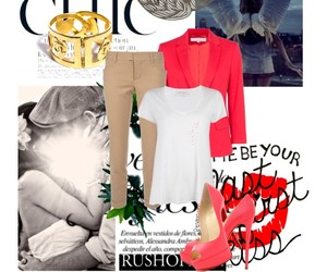 chanel, peep toe, and white t-shirt image