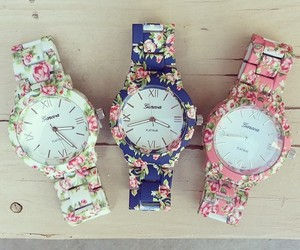 watch, flowers, and beautiful image