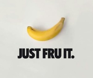 fruit, banana, and nike image