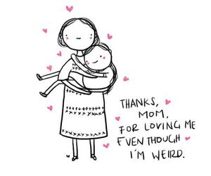 mom, love, and mother image