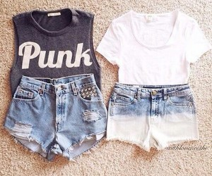 outfit, fashion, and denim image