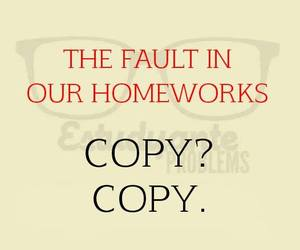 funny, copy, and homework image