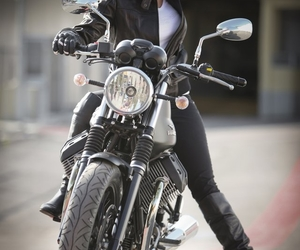 girl, moto, and motogirl image