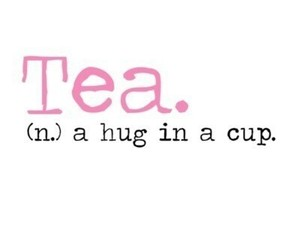 tea, hug, and cup image