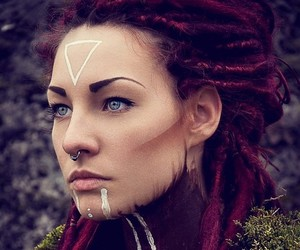 dreadlocks and piercing image