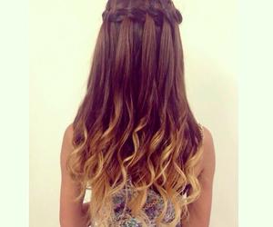 beautiful, braid, and curls image
