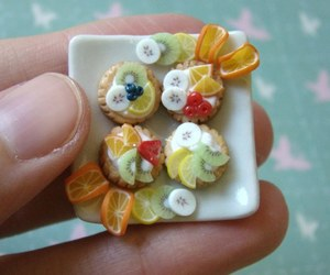 cookie, dessert, and fruit image