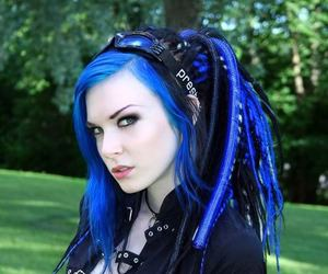 girl, cyber, and blue hair image