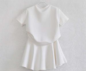 white, fashion, and dress image