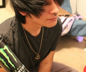 boy, emo, and monster image
