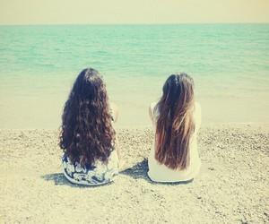 bff, hair, and sea image