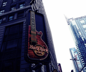 guitar, music, and nyc image