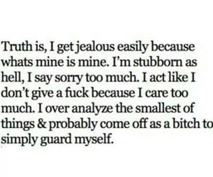 jealousy, stubborn, and me image