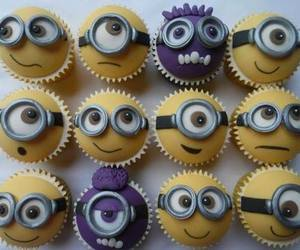 banana, cupcakes, and minions image