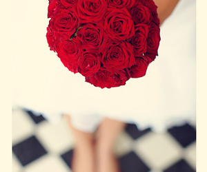 bride, flower, and red image