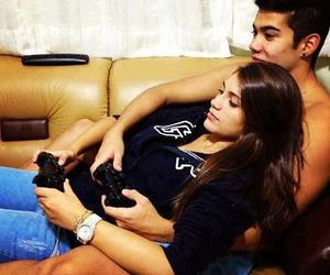 couple, game, and love image