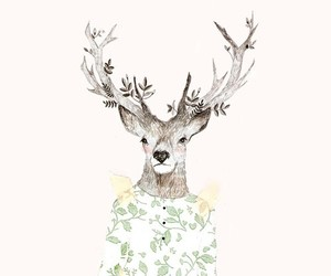 deer, vintage, and animal image