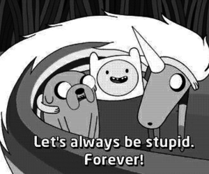 animals, adventure time, and b&w image