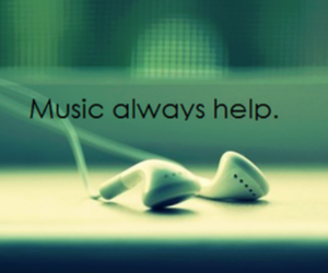 music, helps, and quotes image