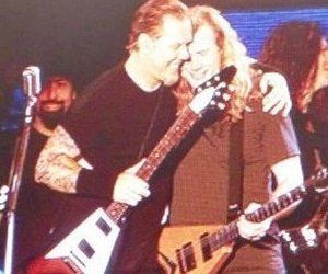 dave mustaine, James Hetfield, and metallica image