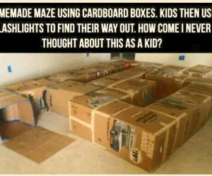 boxes, diy, and maze image