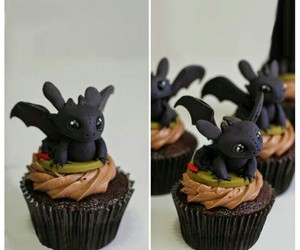 cupcake, toothless, and cute image