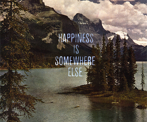 happiness, lake, and quote image