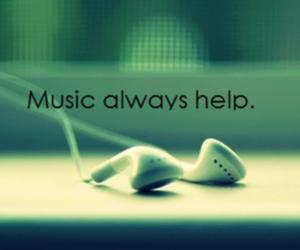 music, help, and earphones image