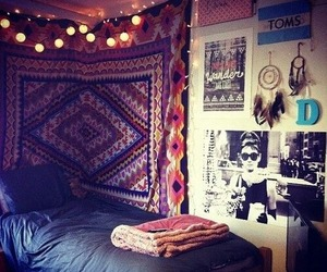 room, bedroom, and hipster image