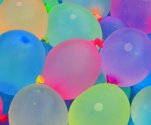 balloons, glow in the dark, and party image