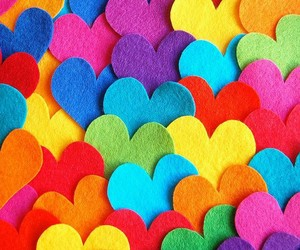 colors and hearts image