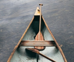 boat, canoe, and on the water image