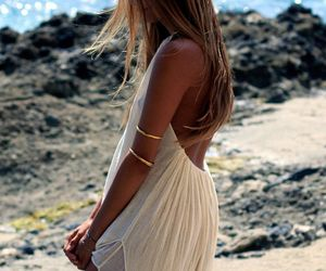 girl, summer, and dress image