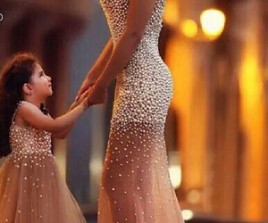 dress, daughter, and mother image